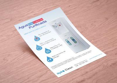 Diseño Gráfico: Flyer de producto Hydro Clean