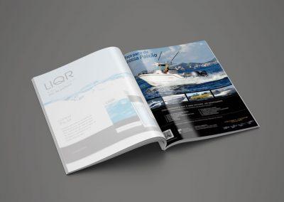 Diseño Gráfico: Revista Lanchas Victory