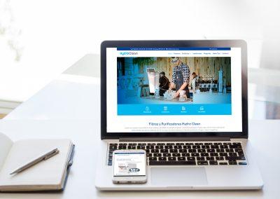 Página Web Filtros y Purificadores Hydro Clean
